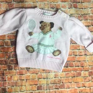 Baby girl Ralph Lauren teddy bear sweater 6m